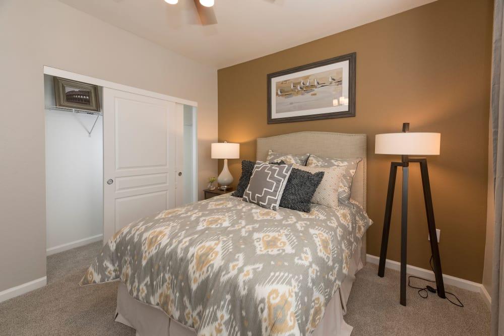 Cozy bedroom at The Artisan Apartment Homes in Sacramento, California