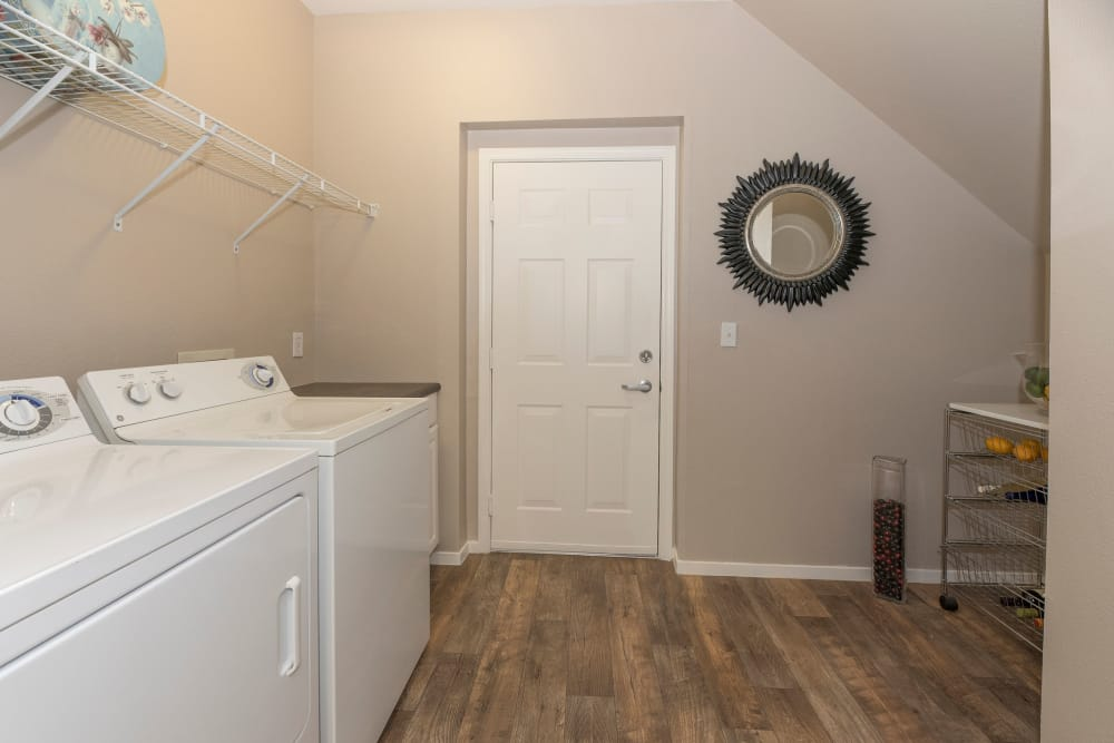 Spacious laundry room at apartments in Antioch, California
