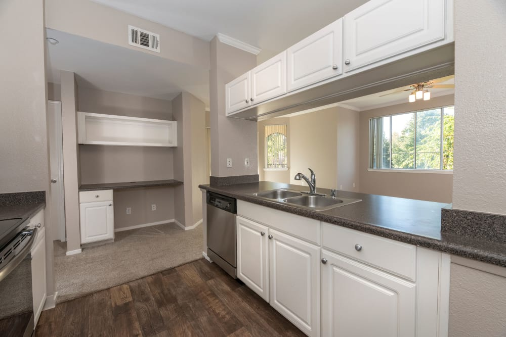 Spacious kitchen at apartments in Antioch, California