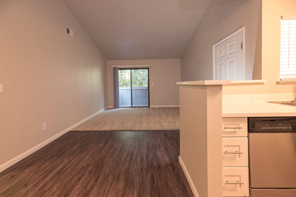 Spacious room with sliding glass door at Park Ridge Apartment Homes in Rohnert Park, California