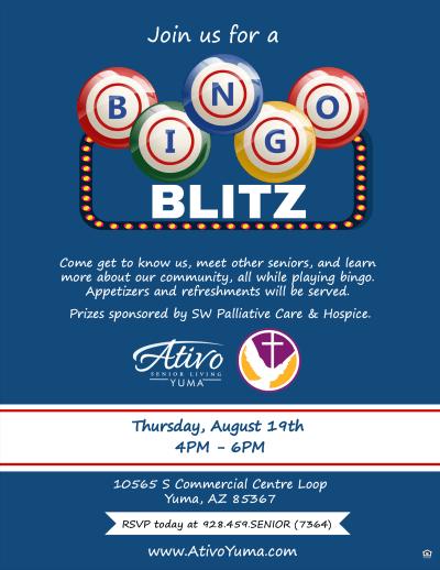 Bingo Blitz Flyer - Aug. 19