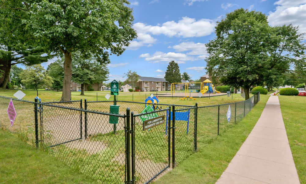 A walk to the playground at Lumberton Apartment Homes