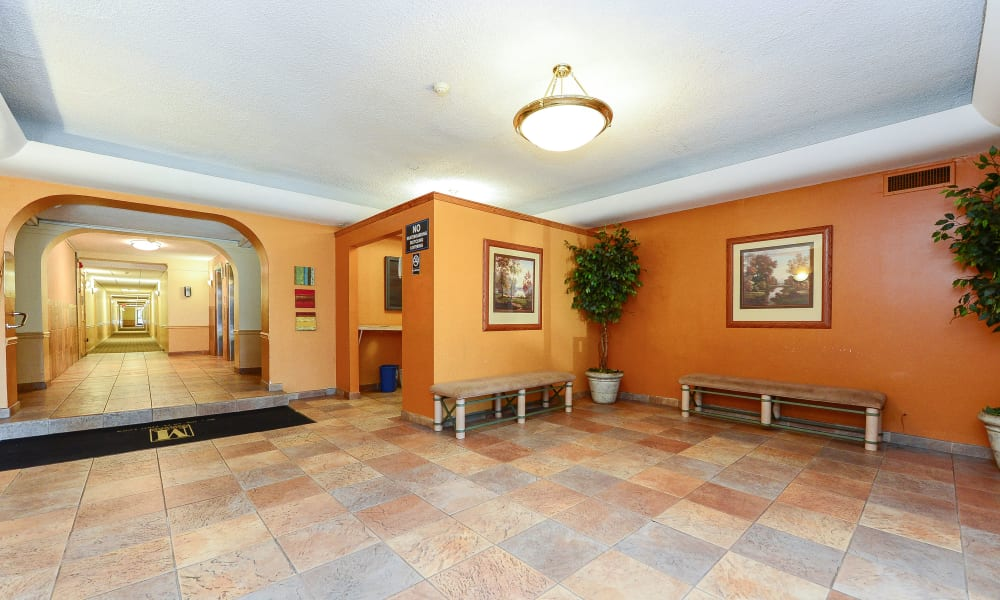 Lobby at The Colonials Apartment Homes in Cherry Hill, NJ