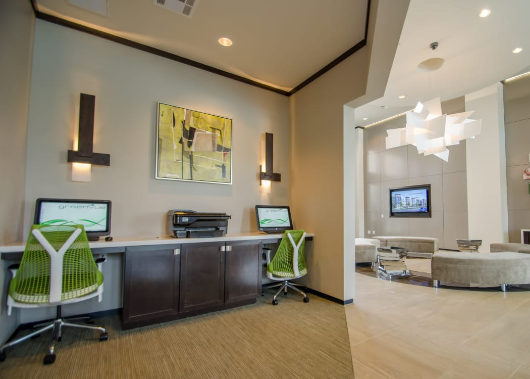 Business area at GreenVue Apartments