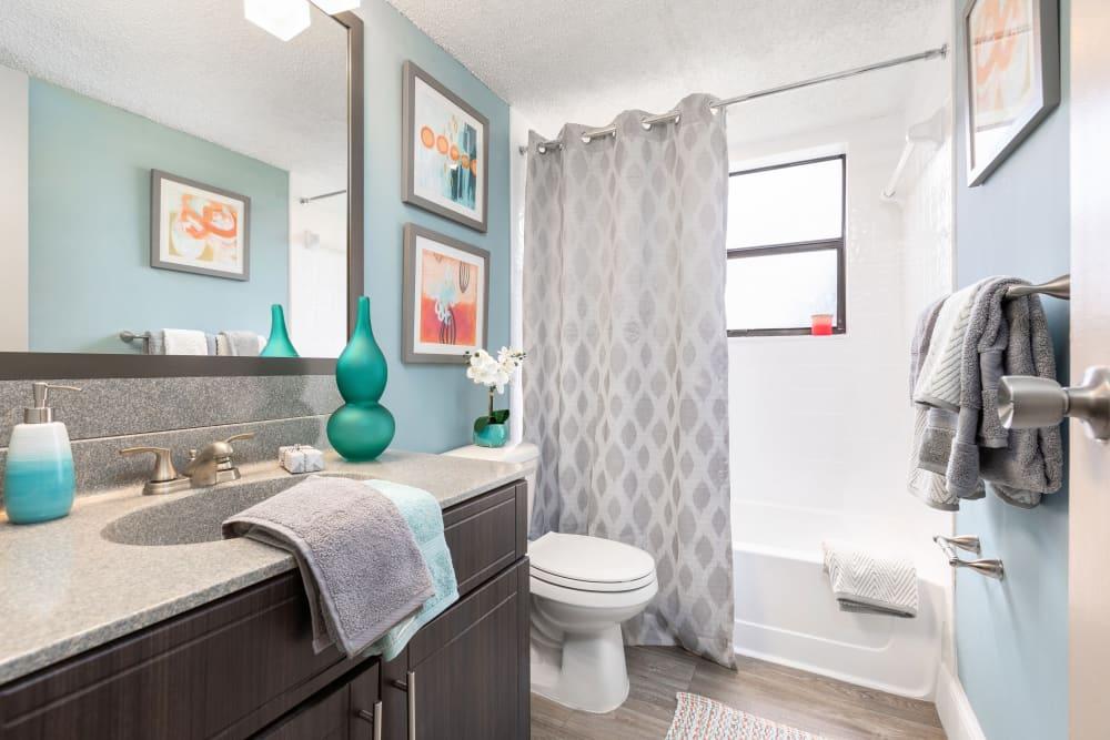Model bathroom at Siena Apartments in Plantation, Florida