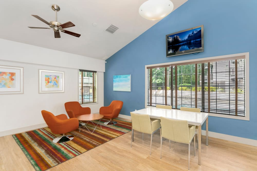 Business center for resident use at Autumn Chase Apartments in Vancouver, Washington