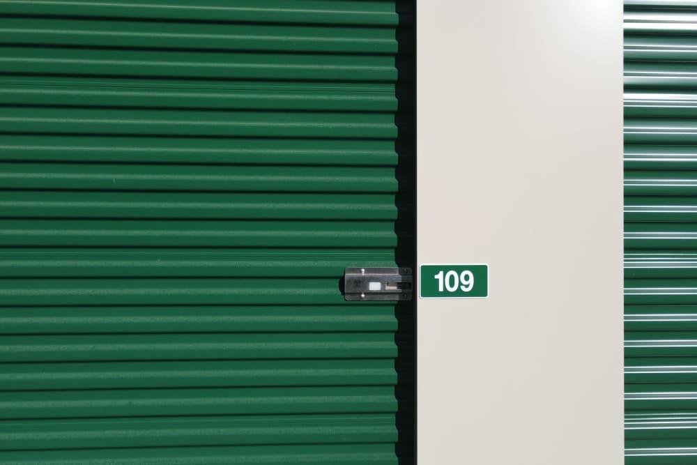 A storage unit close-up 603 Storage - Belmont in Belmont, New Hampshire