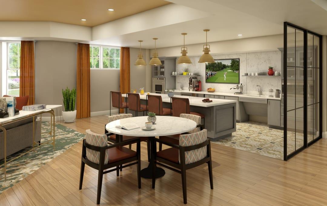 Bistro dining area at Anthology of Farmington Hills in Farmington Hills, Michigan