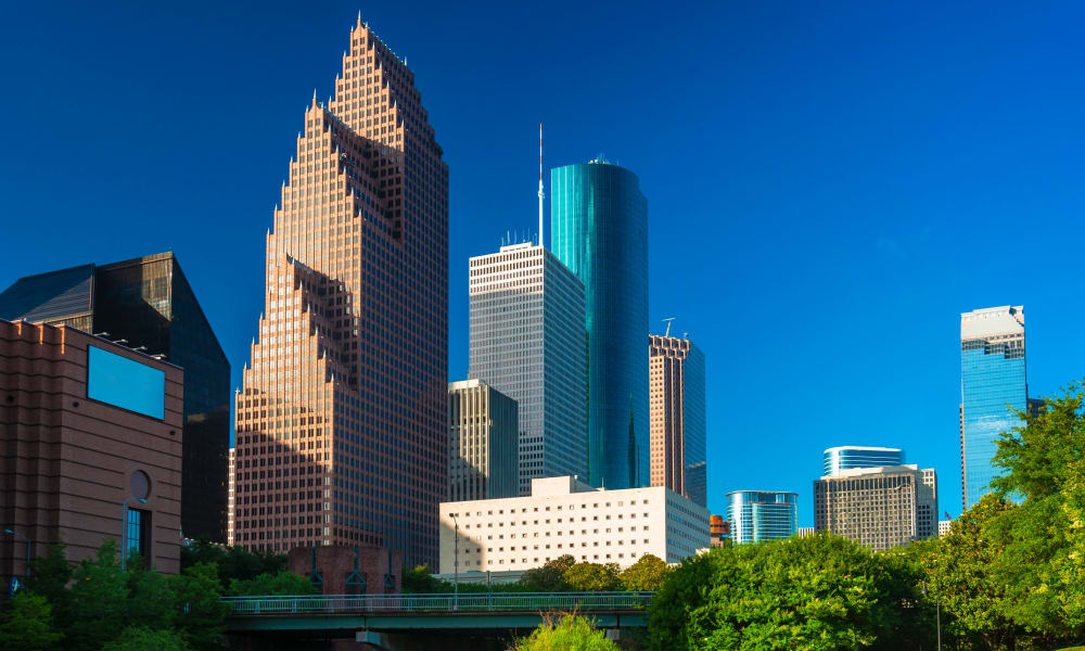 View of the city of Houston, Texas near The Reserve at City Center North