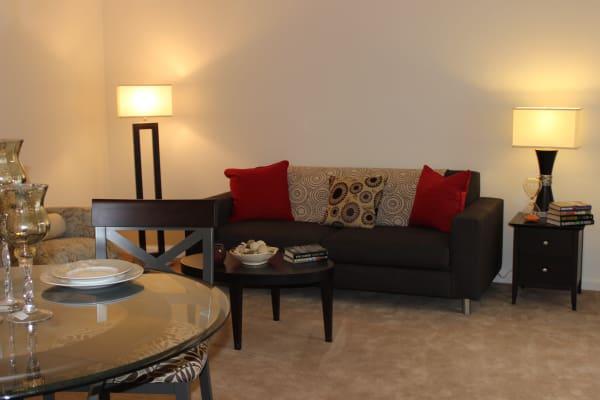 Living room at Curren Terrace in Norristown, Pennsylvania