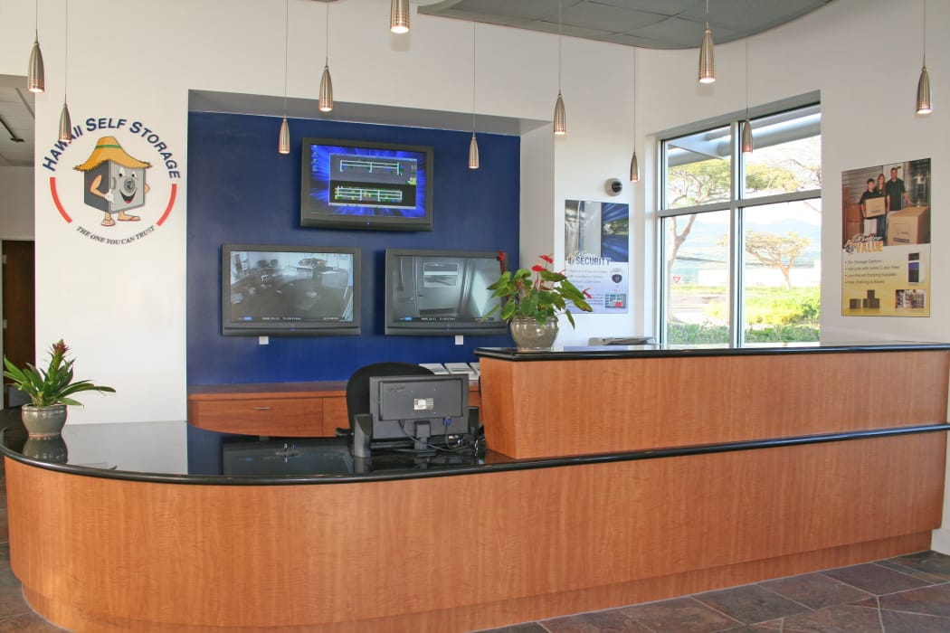 Interior view of our office at Hawai'i Self Storage in Kapolei