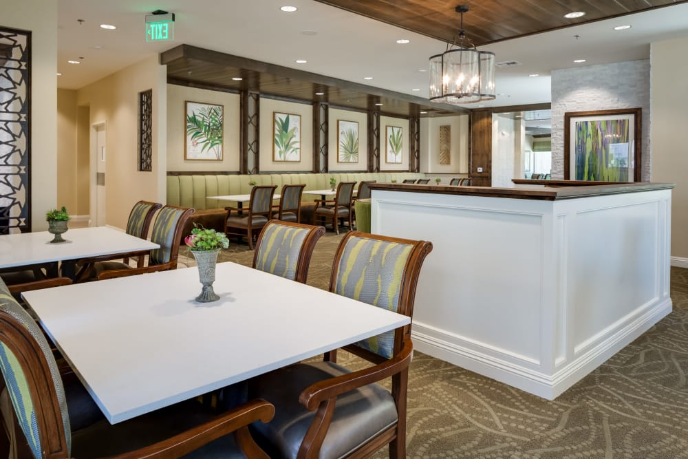 Spacious dining room at The Montera in La Mesa, California