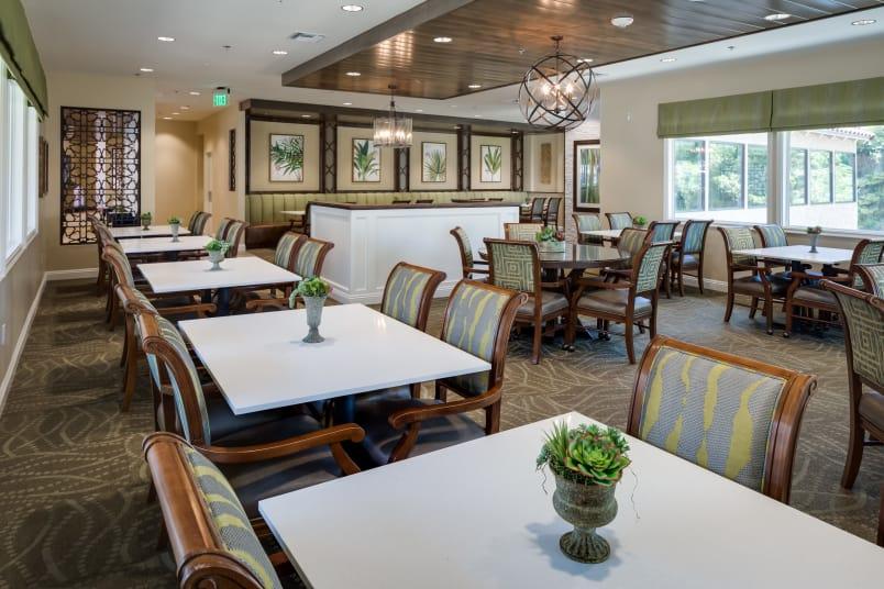 Dining area at The Montera in La Mesa, California