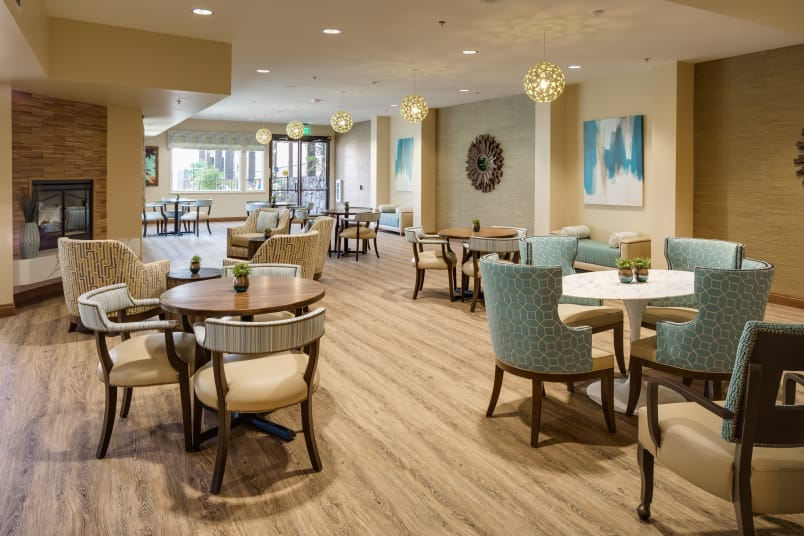 Dining hall at The Montera in La Mesa, CA