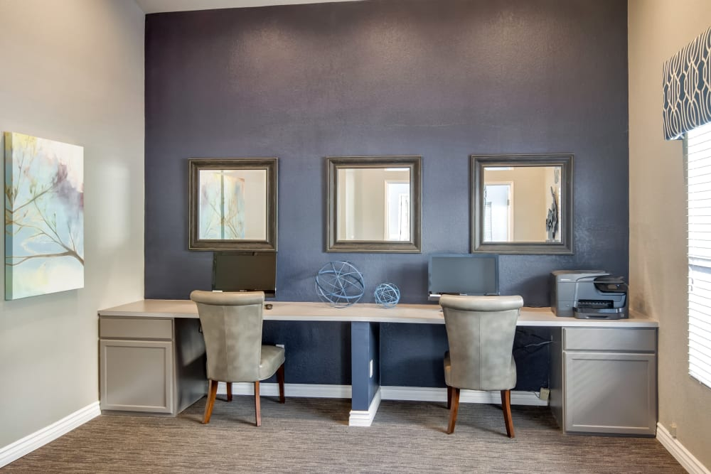 Stay connected with computers in the community business center at Terra Nova Villas in Chula Vista, California