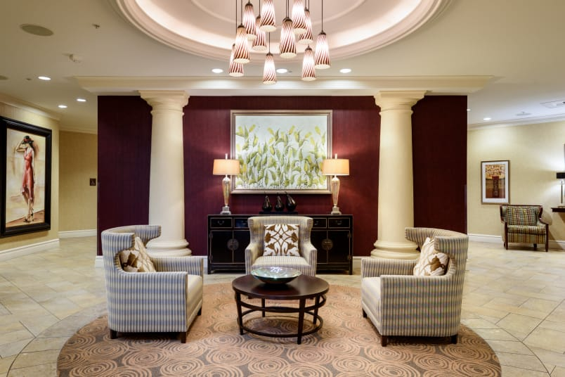 Lobby at The Bellettini in Bellevue, Washington