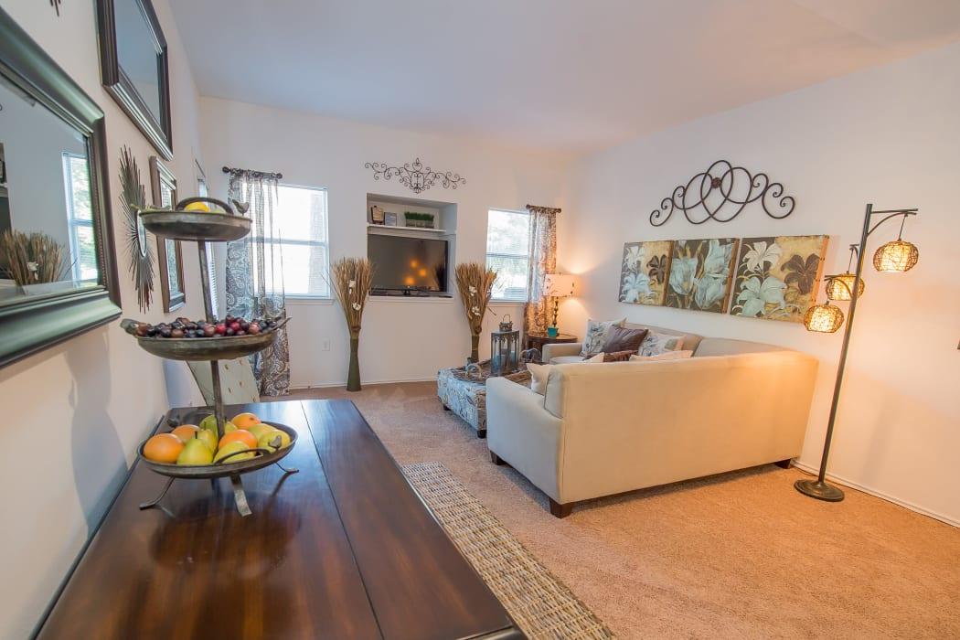 Living room at The Pointe of Ridgeland in Ridgeland, Mississippi