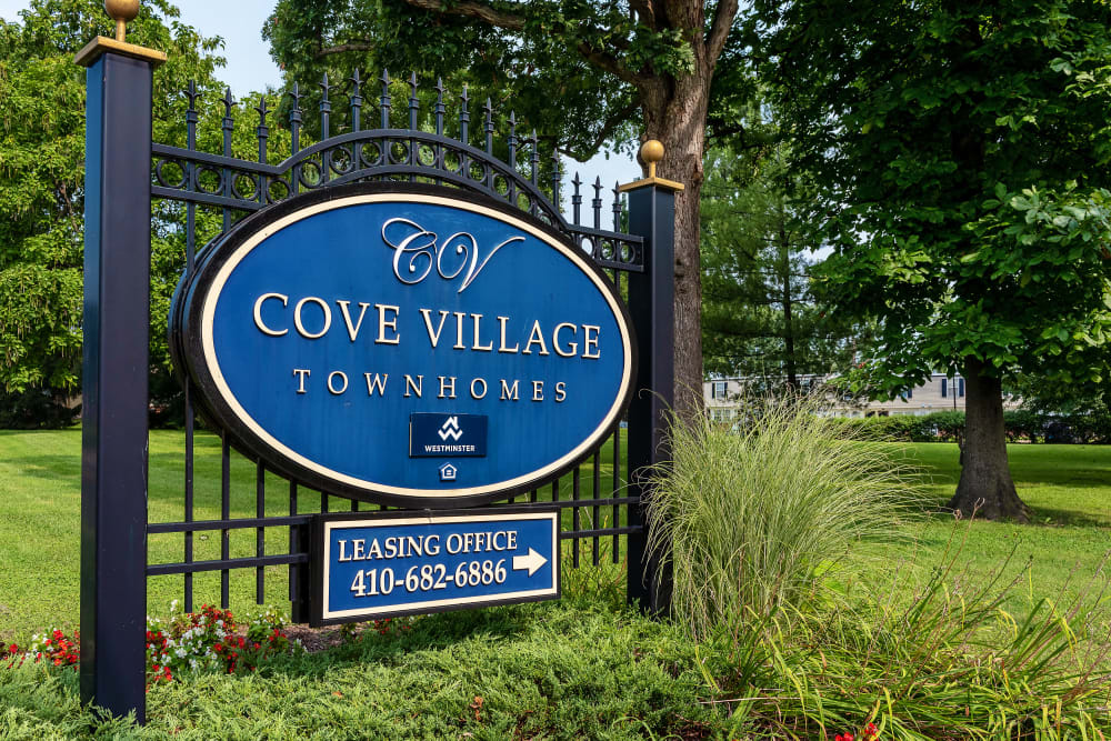 Our apartment sign in Essex, Maryland