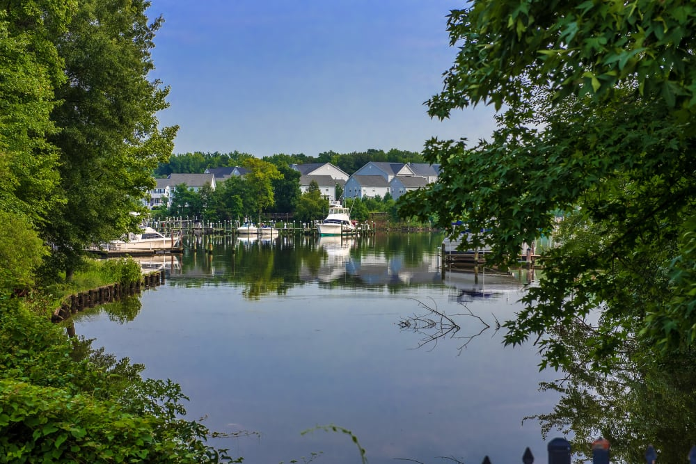 Small lake at Cove Village in Essex, Maryland