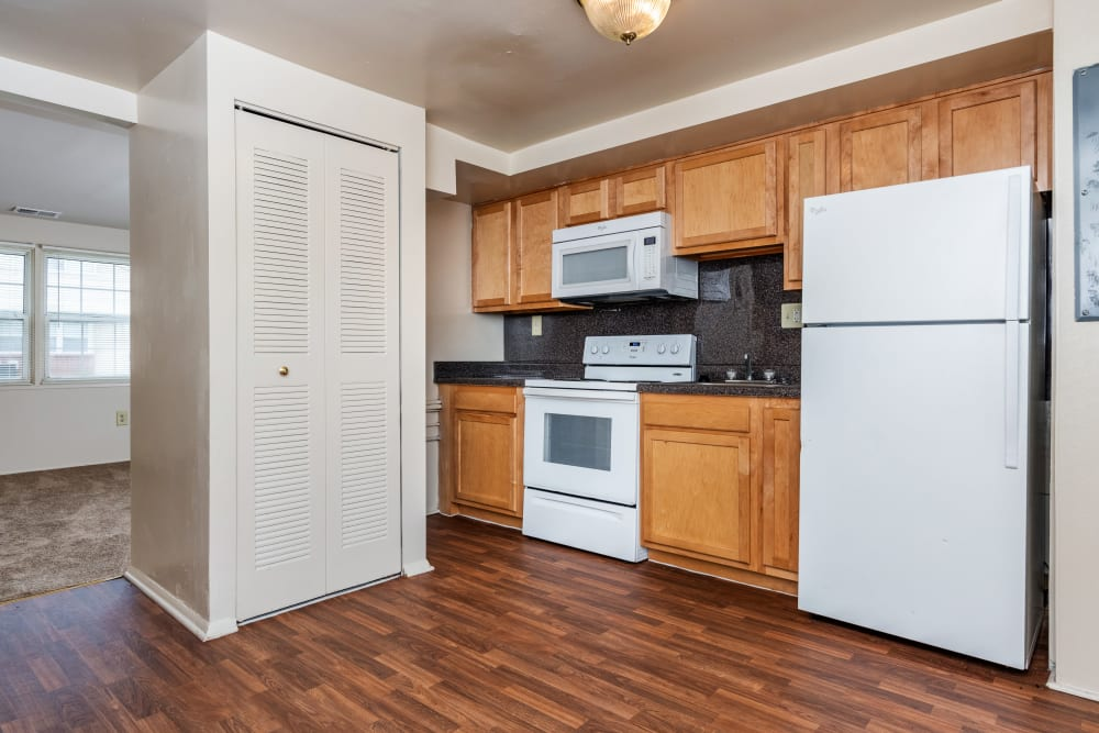 Apartments with a modern kitchen at Cove Village