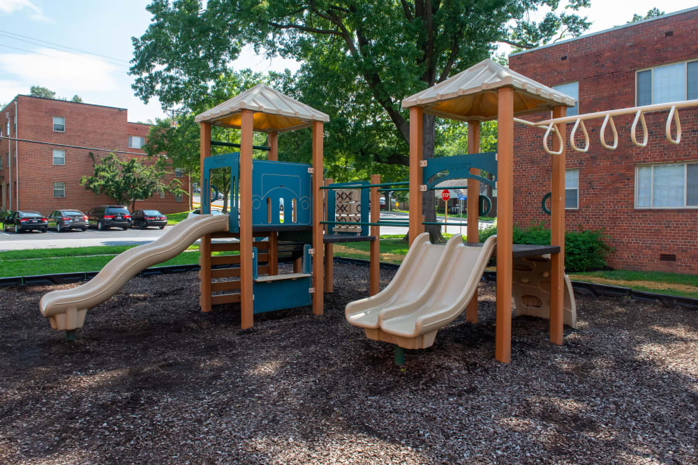 Hamilton Manor offers a great for entertaining playground in Hyattsville, Maryland
