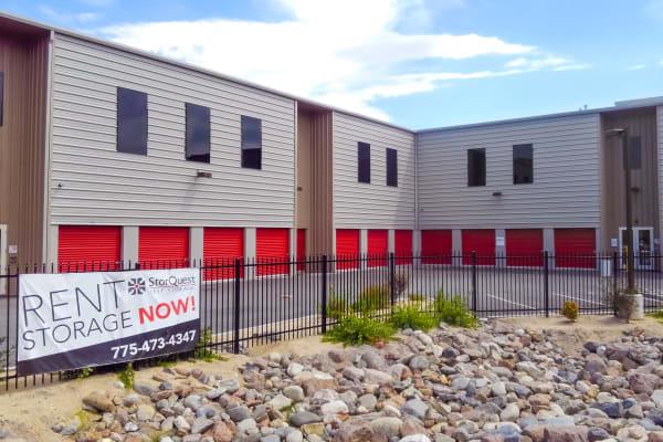 Exterior of Reno self storage units