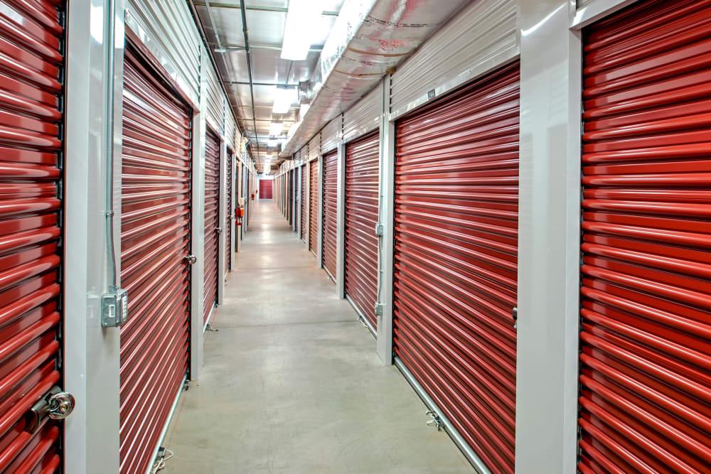 Indoor units hallway at Metro Self Storage in North Wales, Pennsylvania