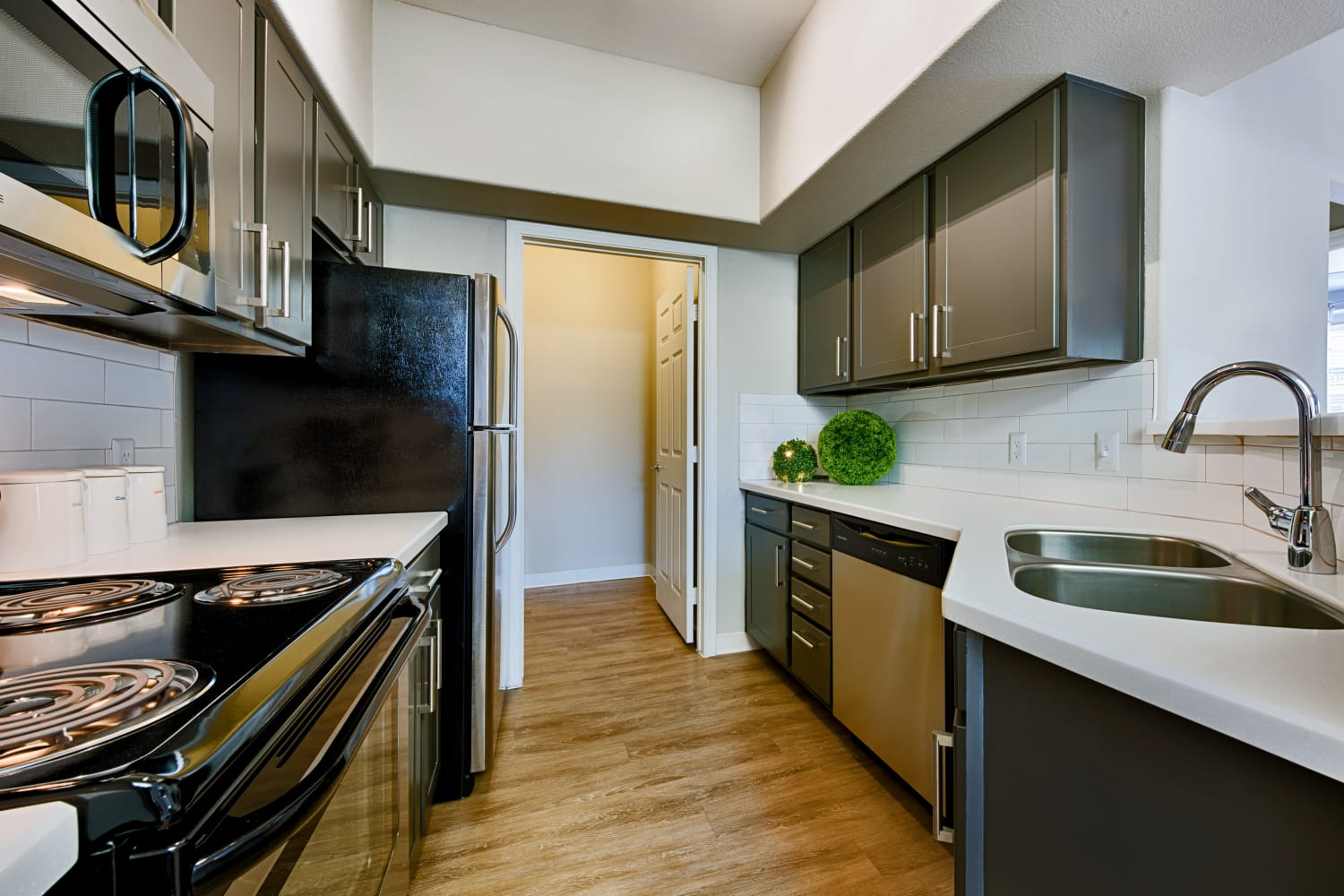 There are upgraded appliances in the kitchens at Sonoran Vista Apartments in Scottsdale, Arizona