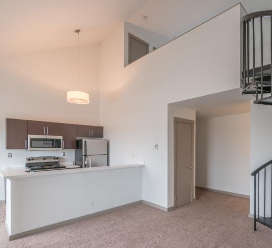 Kitchen view at Elan 41 Apartments in Seattle