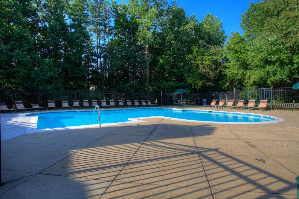 Beautiful swimming pool at apartments in Midlothian, Virginia