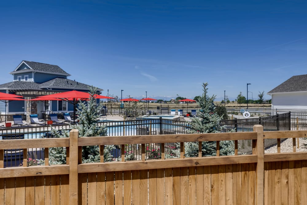 Pool fence at Avilla Buffalo Run in Commerce City, Colorado