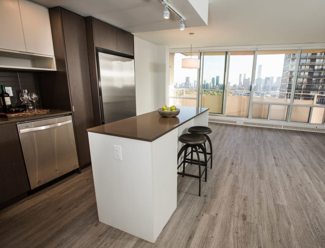 Bretton Place offers beautiful hardwood floors in our Toronto, ON apartments