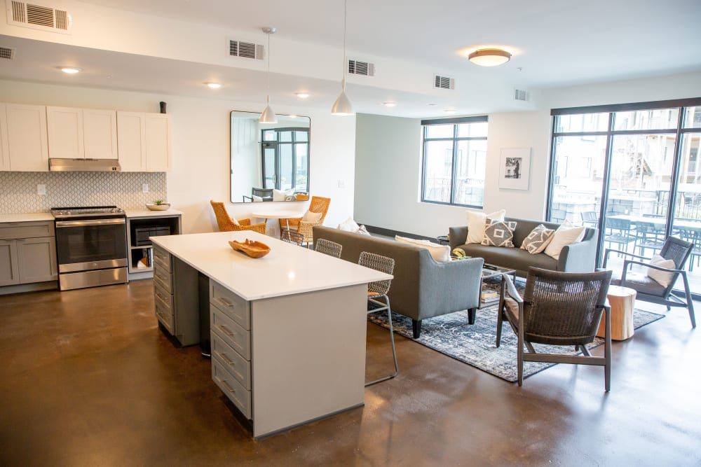 Resident lounge at Belcourt Park in Nashville, Tennessee