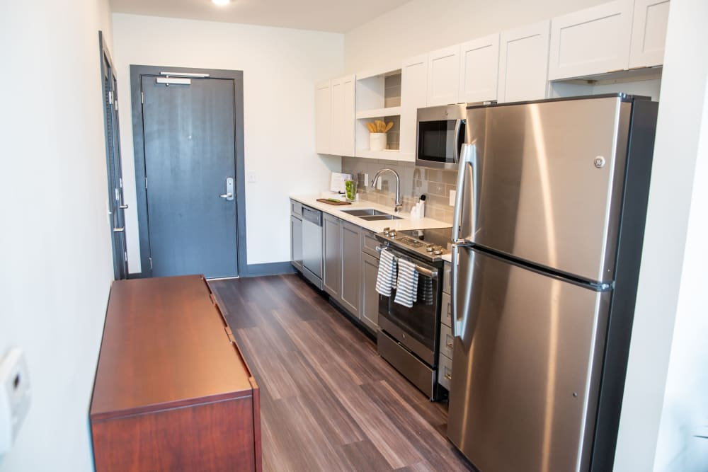 Modern kitchen at Belcourt Park in Nashville, Tennessee