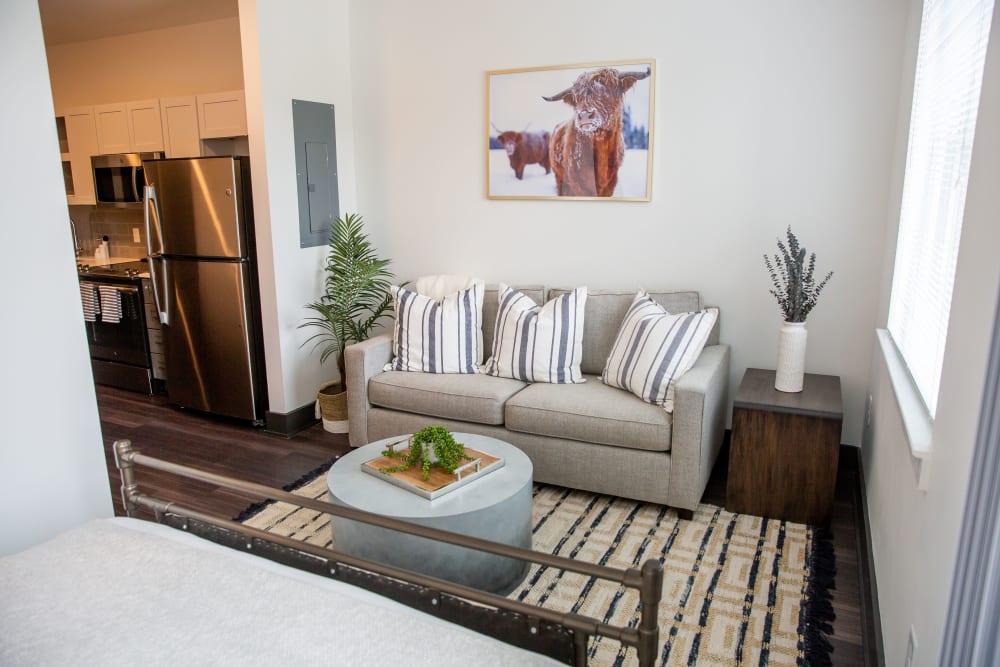 Model living room at Belcourt Park in Nashville, Tennessee