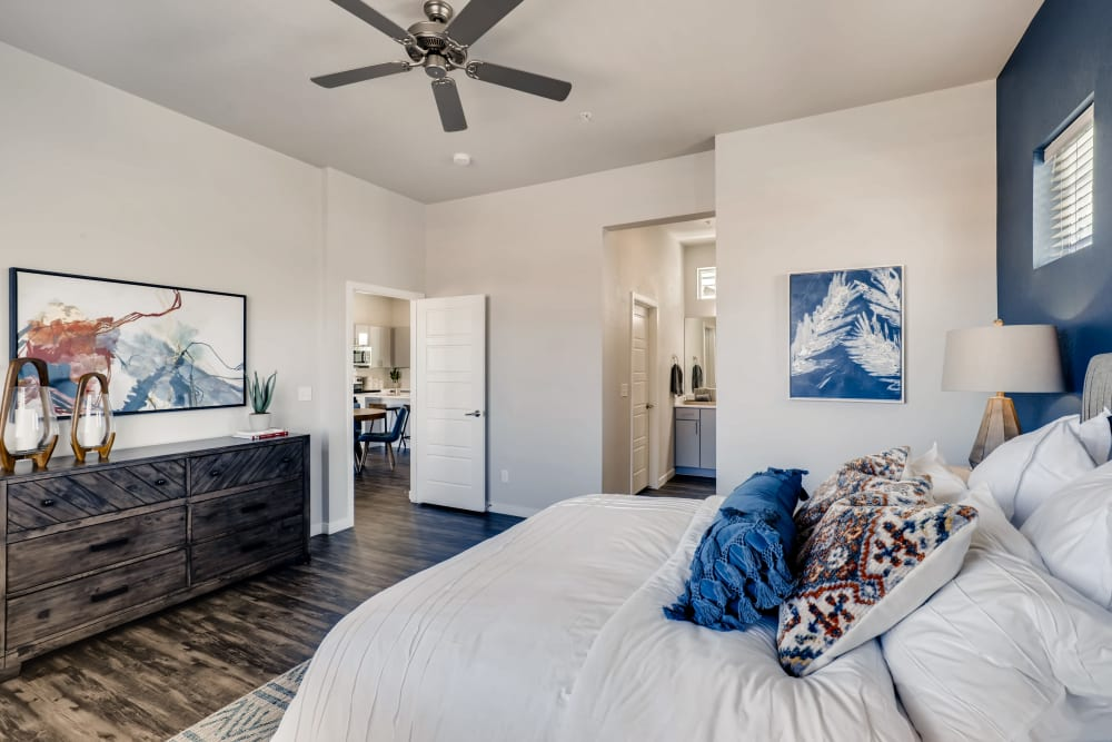 Bedroom at Avilla Buffalo Run in Commerce City, Colorado