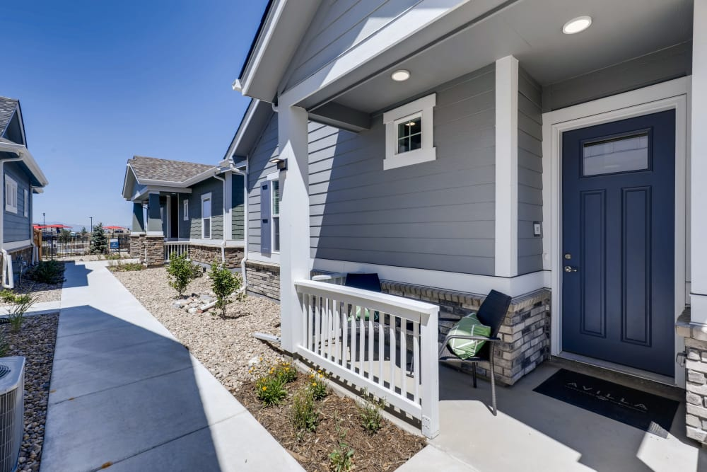 Apartment entrance at Avilla Buffalo Run in Commerce City, Colorado