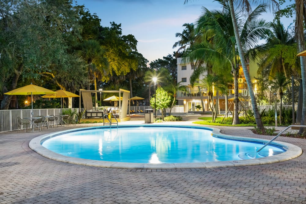 Pool area at apartments in Plantation, Florida