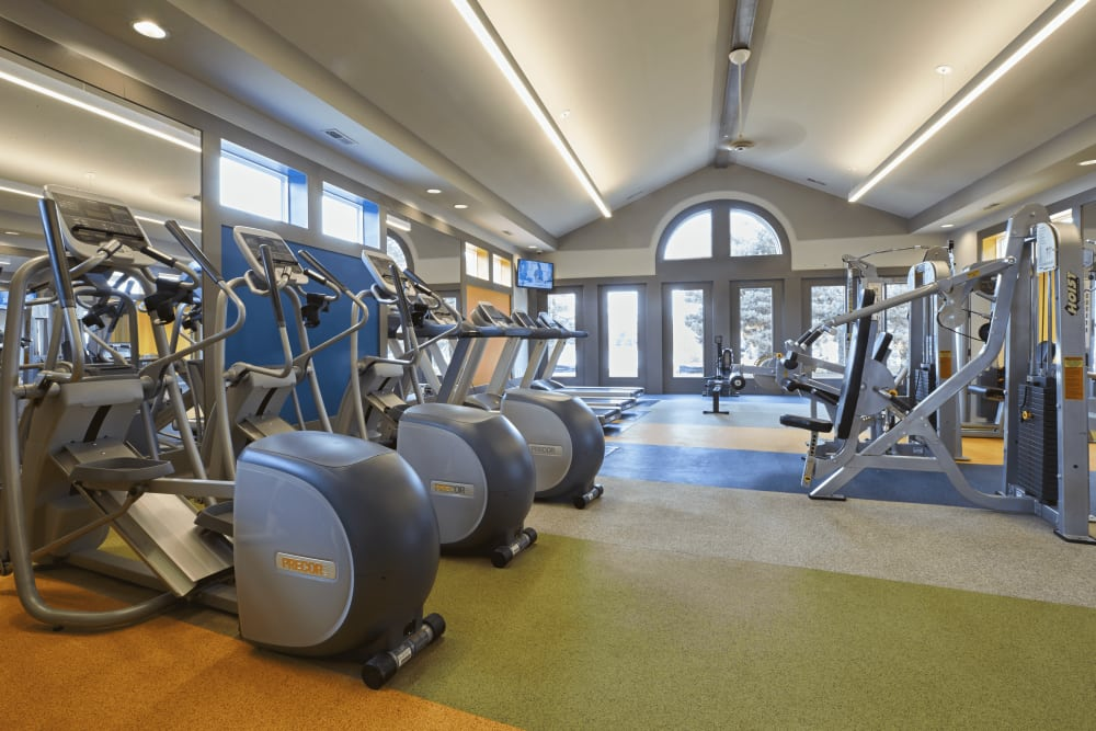 Fitness center at Lakeside Terraces in Sterling Heights, Michigan