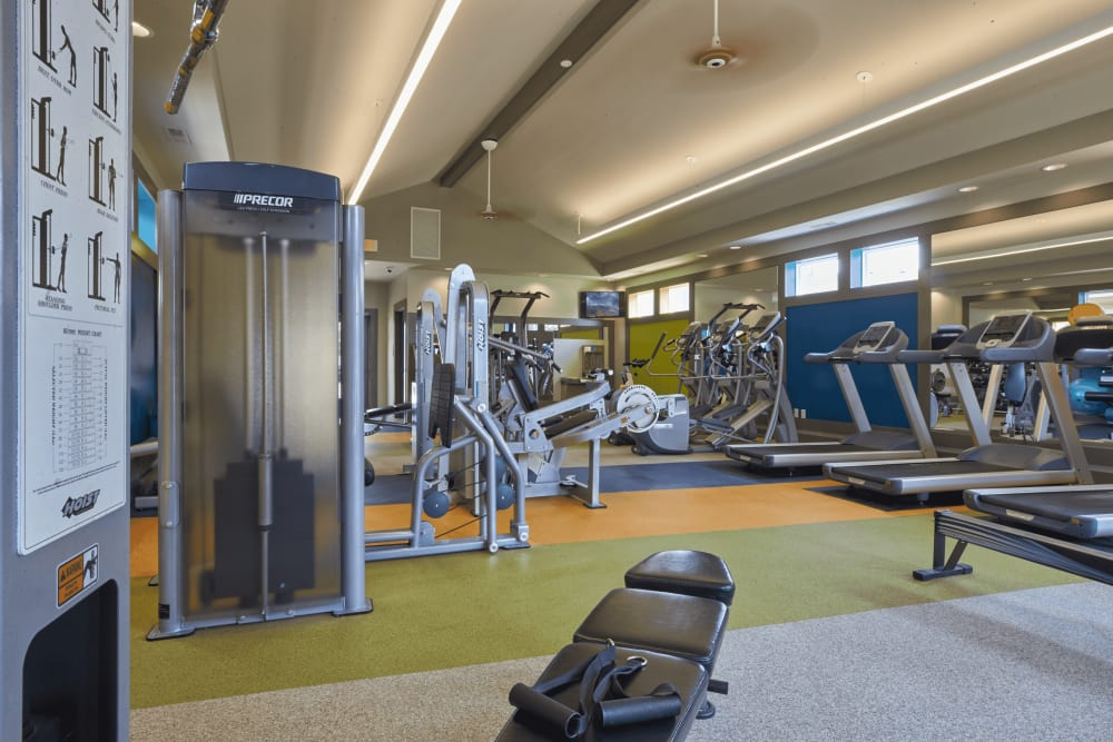 Workout room at Lakeside Terraces in Sterling Heights, Michigan