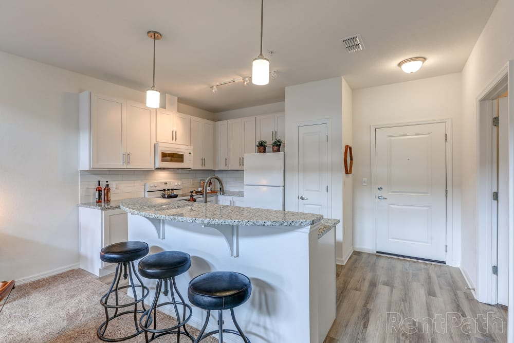 Modern kitchen at Lola Apartments in Riverview, FL