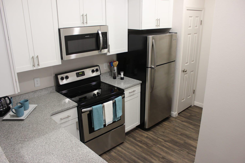 Kitchen at Irving Schoolhouse Apartments in Salt Lake City, Utah