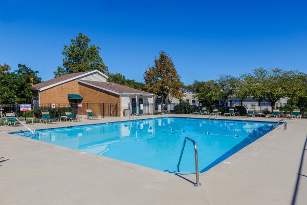 New renovated swimming pool at Sheffield Heights Apartment Homes in Nashville, Tennessee