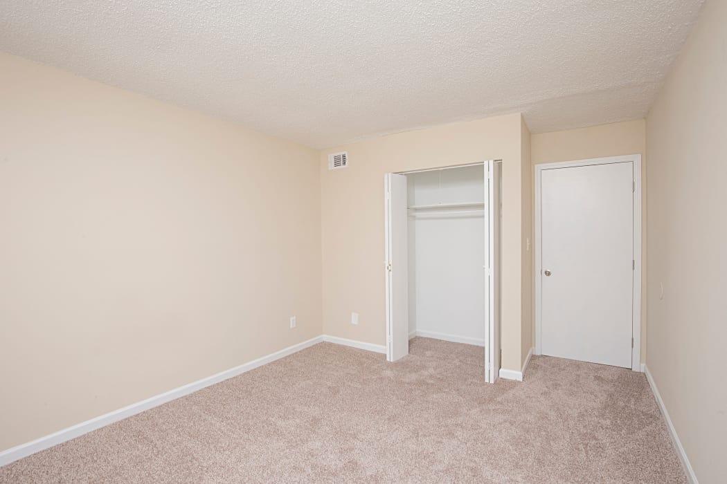 Model bedroom at Avondale Reserve in Avondale Estates, GA