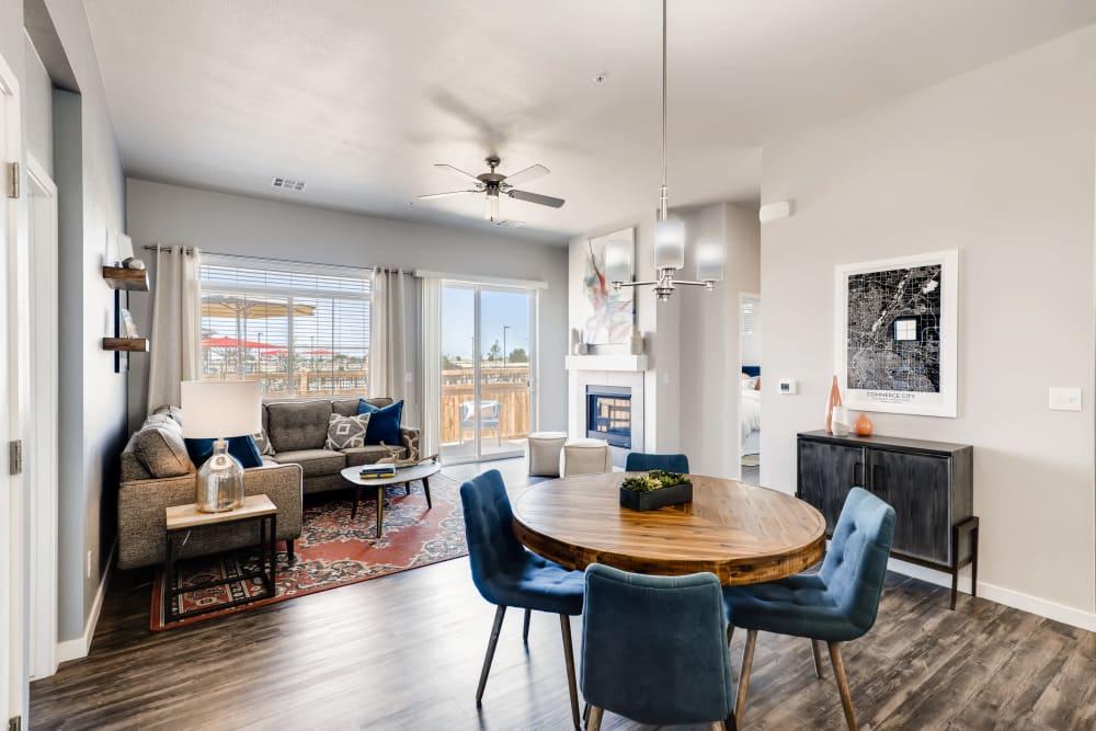 Dining room at Avilla Eastlake in Thornton, Colorado