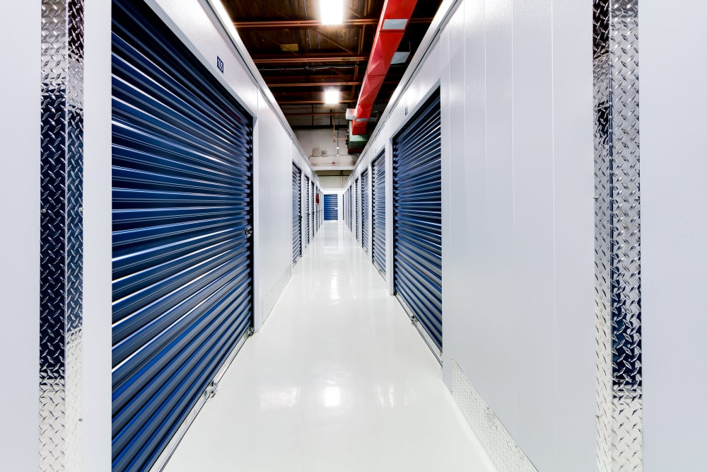 Interior storage units at CityBox Storage in Calgary, Alberta
