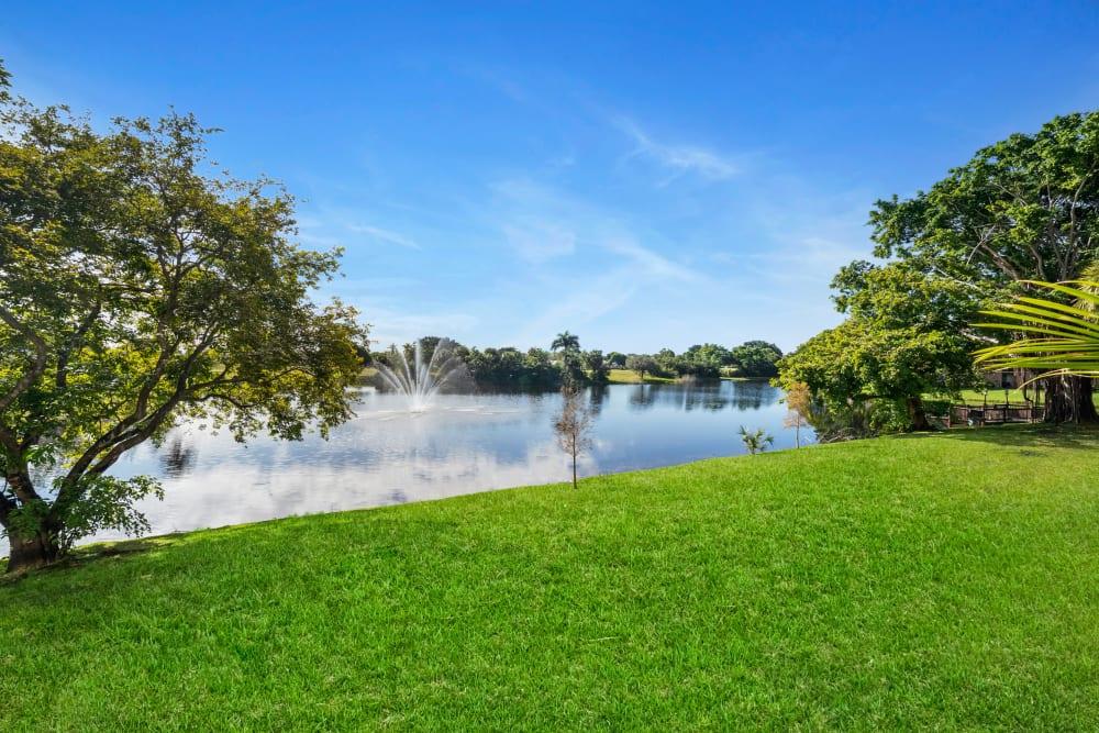 Lake at apartments in Plantation, Florida