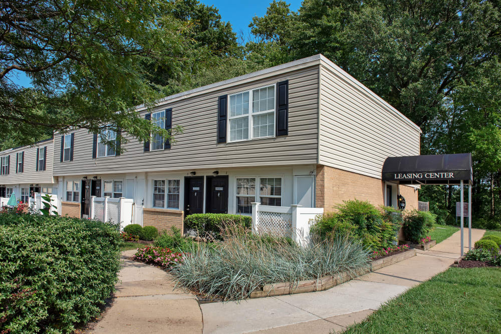Beautiful apartments exterior at Fontana Village in Rosedale, Maryland