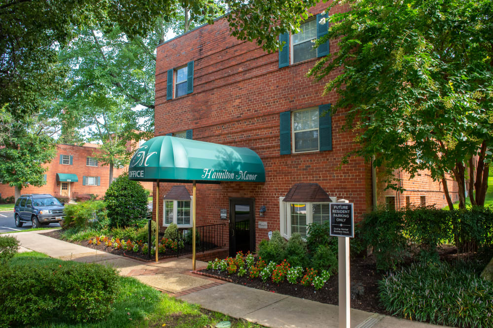 Leasing office at apartments in Hyattsville, Maryland