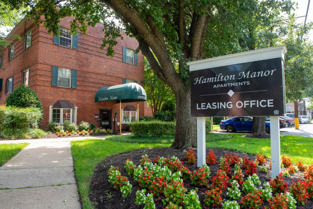 Leasing office at Hamilton Manor in Hyattsville, Maryland